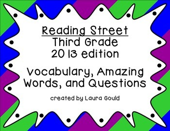 Reading Street - Third Grade - Cool Color Bundle
