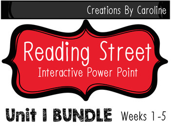Reading Street Third Grade POWER POINTS UNIT 1 Weeks 1-5