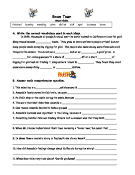 Reading Street - Third Grade Study Guides