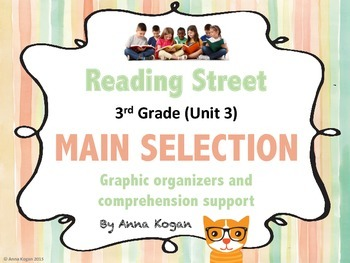 Reading Street Third Grade Unit 3: Main Selection Graphic Organizers