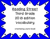 Reading Street Third Grade Vocabulary Words - cool colors