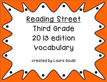 Reading Street Third Grade Vocabulary Words - warm colors
