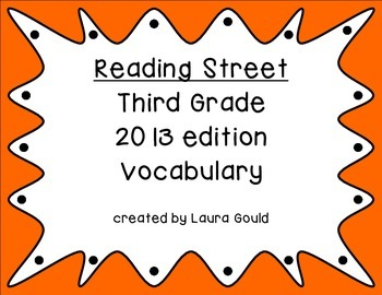 Reading Street Third Grade Vocabulary Words - warm colors