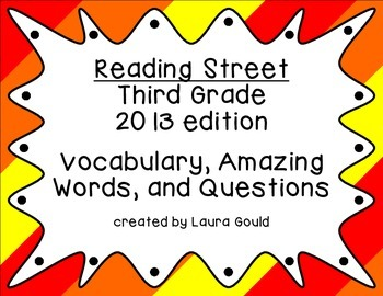 Reading Street - Third Grade - Warm Color bundle
