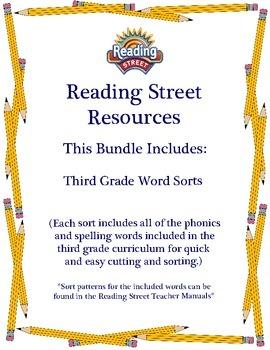 Reading Street - Third Grade Word Sorts