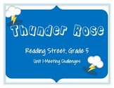 Reading Street: Thunder Rose activities- Grade 5, Unit 1: