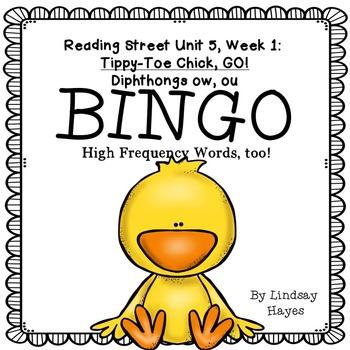 Reading Street: Tippy-Toe Chick, GO! BINGO Diphthongs ow, ou