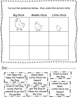Tippy-Toe Chick,GO! Centers and Printables For All Ability Levels