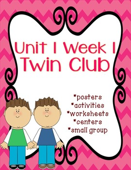 Reading Street Twin Club With No Prep Center Packet With Editable Center Cover 2623225 on Nd Grade Spelling Worksheets Math Cover
