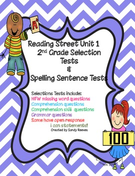Reading Street Unit 1 2nd grade Selection Tests Common Core Iris and Walter..
