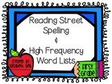 Reading Street Unit 1-5 Word Lists: First Grade