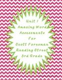 Reading Street Unit 1 Amazing Word Assessments - Third Grade