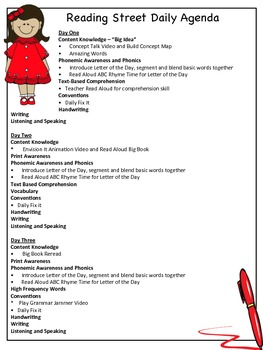 Reading Street Unit 1 Breakdown - First Grade