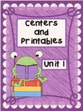 Reading Street, 1st Grade, Unit 1 BUNDLE  Printables/Dista