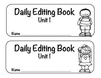 Reading Street Unit 1 Editing Sentences