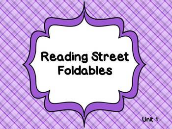 Reading Street Unit 1 Foldables 1st Grade