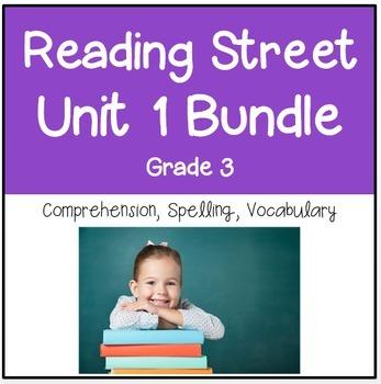 Reading Street Unit 1 Grade 3 Bundle