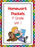Reading Street, Unit 1, Homework Packets