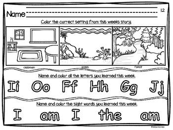 Reading Street Unit 1 - Intervention Worksheets - Kindergarten