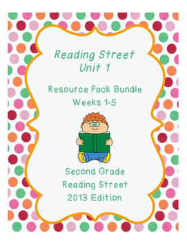 Reading Street Unit 1 Resource Pack Bundle Second Grade