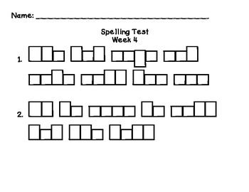 Reading Street Unit 1 Spelling Tests