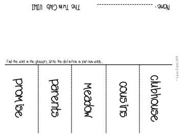 Reading Street Unit 1 Vocabulary Activities