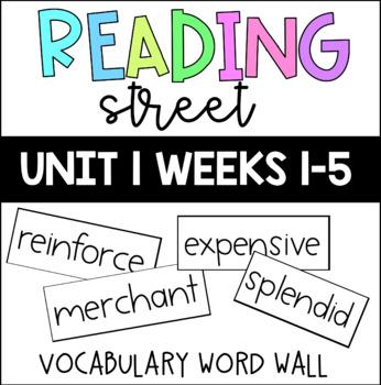 Reading Street Unit 1 Vocabulary Word Wall