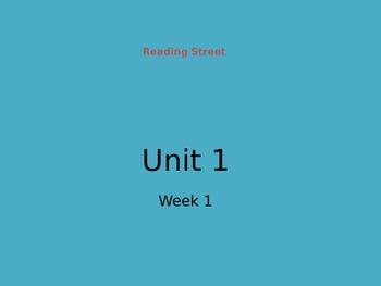 Reading Street Unit 1 Week 1
