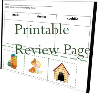 Reading Street Unit 1, Week 1 Amazing Words Presentation/printable