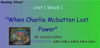Reading Street Unit 1 Week 1: Charlie McButton