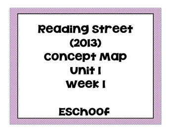 Reading Street Unit 1 Week 1 Concept Map