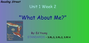 Reading Street Unit 1 Week 2: What About Me?