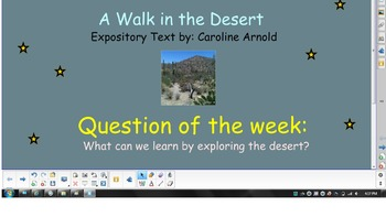 Reading Street Unit 1 Week 4: A Walk in the Desert