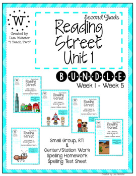 Reading Street Unit 1 Weekly Work Bundle