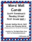 Reading Street Unit 1 Word Wall  Spelling, Sight & Amazing words