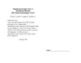 Reading Street Unit 1 Write the Room QR Codes