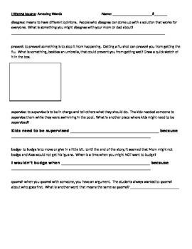 Reading Street 3rd Grade Unit 2 Amazing Vocabulary Words Activities