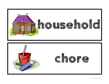 Reading Street Unit 2 Amazing Words Picture Cards- 1st Grade