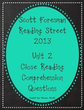 Reading Street Unit 2 Close Reading Comprehension - Grade 3