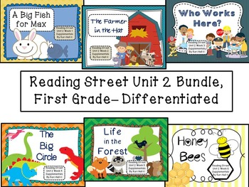 Reading Street Unit 2 First Grade Bundle-- Differentiated