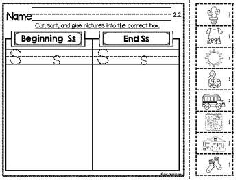 Reading Street Unit 2 - Intervention Worksheets - Kindergarten