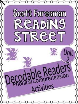 Reading Street Unit 2 Phonics/Comprehension Activities