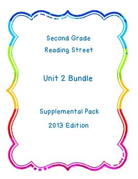 Reading Street Unit 2 Resource Pack Bundle Second Grade