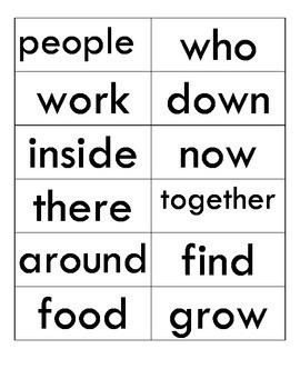 Reading Street Unit 2 Sight Words