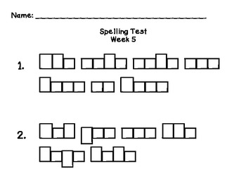 Reading Street: Unit 2 Spelling Tests