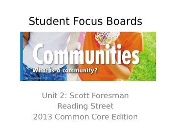 Reading Street Unit 2 Student Focus Boards