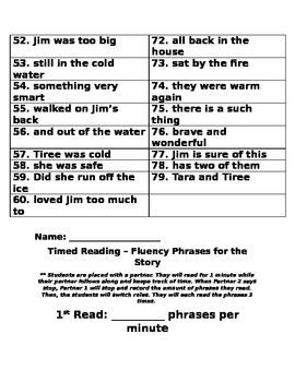 Reading Street Unit 2: Tara and Tiree Fluency Phrases