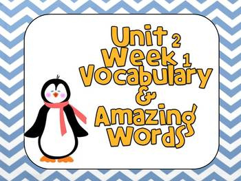 Reading Street (Unit 2 Week 1) Vocabulary Pack