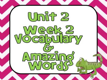 Reading Street (Unit 2 Week 2) Vocabulary Pack