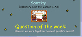 Reading Street Unit 2 Week 3: Scarcity